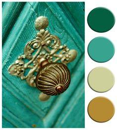 my design ethos: Colour Palette: Turquoise & Gold Door