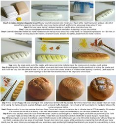 The Enchanted Gallery: How to make miniature food with polymer clay - Bread boule and baguette tutorial