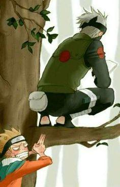 Read Naruto and Kakashi from the story Naruto Texts by (Alex) with reads. Kakashi: Hi. Naruto Shippuden Sasuke, Kakashi Naruto, Naruto Anime, Wallpaper Naruto Shippuden, Sasuke Sakura, Naruto Cute, Gaara, Hinata, Manga Anime