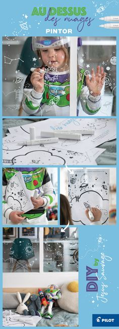 Un DIY pour les mini astronautes / astronomes en herbe ! Avec les printables à télécharger, dessiner sur les fenêtres devient un jeu d'enfant ! #DIY by @jesussauvage pour @pilotpenfrance #PilotPintor #pintorDIY #freeprintable #DIYforkids Toy Story, Decoration, Kids And Parenting, Barbie, Cycle, Activity Ideas, Activities, Toys, Christmas