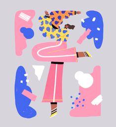 Lucas Wakamatsu on Behance People Illustration, Flat Illustration, Illustration Artists, Illustrations, Character Illustration, Graphic Design Illustration, Digital Illustration, Shape Posters, Poster S