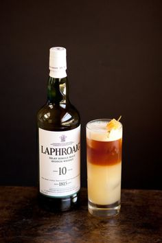 Peat-er & the Wolf 2 oz Laphroaig 10 1/2 oz St.Elizabeth allspice dram 1 oz fresh lime juice 1 oz ginger syrup 2 oz Theakstons Old Peculiar ale or Newcastle Brown ale ( plus the bottle for topping up)