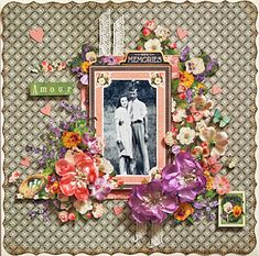 It's a Petaloo and Graphic 45 Love Story! Beautiful Amour layout by Maggi Harding using Children's Hour #graphic45 #petaloo