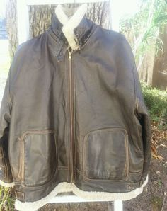WW11 US ARMY Era Leather Jacket XL AIR FORCES AN-J-4 SHEARLING SHEEPSKIN BOMBER  #Unbranded
