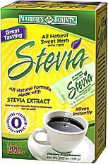 Nature's Bounty Stevia Packets (100 packets)