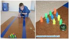 Créez un jeu de bowling miniature avec des gommes