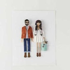- send your pic to be made into a custom visual. 17 of This Year's Best Custom Valentine's Day Gifts via Brit + Co Diy Online, Specialty Paper, Engagement Gifts, Engagement Photos, Sentimental Gifts, How To Make Paper, Diy Kits, Customized Gifts, Personalized Gifts