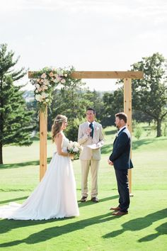 Rustic and romantic floral adorned arbor: http://www.stylemepretty.com/wisconsin-weddings/middleton-wisconsin/2015/09/14/rustic-romantic-garden-inspired-wisconsin-wedding/ | Photography: Booth Photographics - http://boothphotographics.com/