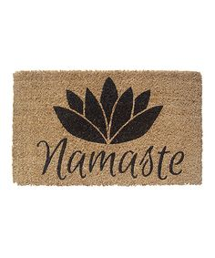 Celebrate peace and provide a warm welcome to guests with the Entryways Namaste Outdoor Door Mat . This door mat is hand-woven of all-natural coir and. Namaste, X 23, Outdoor Doors, Indoor Outdoor, Outdoor Mats, Coir Doormat, Recycled Rubber, Welcome Mats, Home Living