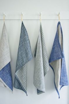How to: Super Simple, Rustic Dish Towels | Man Made DIY | Crafts for Men | Keywords: sewing, DIY, fabric, rustic