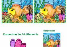 JUEGOS DE ENCONTRAR DIFERENCIAS ® Fichas infantiles Develop Pictures, Winnie The Pooh, Disney Characters, Kids, Crafts, Babies, Preschool Language Activities, Fun Activities, Kid Games