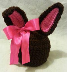 #Crochet this Super Cute Easter Bunny Ears Beanie Toddler HAT CROCHET #T...