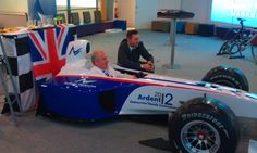 Vinyl application of some of our designs on a F1 simulator running on the massive screen in the Forum Norwich :: http://www.cogmedia.co.uk