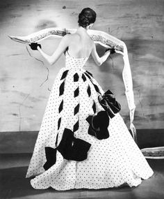 Suzy Parker in a Jacques Fath gown, Paris, 1953, photo by Louise Dahl-Wolfe