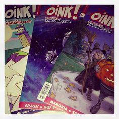 No Mercromina xa temos os 3 primeiros números da @OINK! A revista do Xabarín Club! E ti, xa es do Clube?