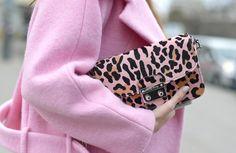 Miu Miu Pink Leopard Clutch