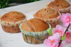 i muffin con farina di castagne sono dei dolcetti gluten free. Con farina di castagne, farina di riso, olio. Arricchiti con delle gocce di cioccolato. Biscotti, Muffins, Food And Drink, Gluten Free, Cooking, Breakfast, Recipes, Cupcakes, Breads