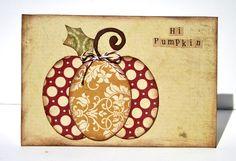 Hi Pumpkin card  **Ruby Rock-It - Scrapbook.com