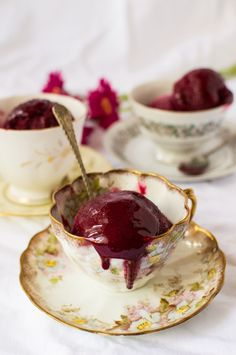 Damson and gin sorbet - Domestic Gothess