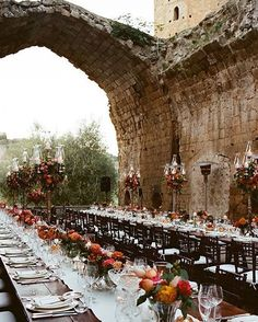 Colorful Wedding in a Historic Italian Abbey, Tall, Colorful Wedding Centerpieces me for Statement Colorful Wedding Design!Colorful Wedding in a Historic Italian Abbey, Tall, Colorful Wedding Centerpieces Floral Wedding, Wedding Colors, Wedding Flowers, Whimsical Wedding, Trendy Wedding, Boho Wedding, Wedding Styles, Boho Bride, Wedding Designs