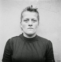 Mugshots of Female Nazi Concentration Camp Guards  Awaiting Trial in 1945