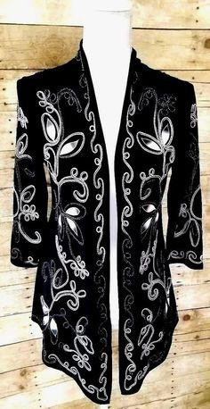 1e50b209826 OBJECTS DART Open Front Blazer Dressy Cardigan Jacket Black Top Womens  Small