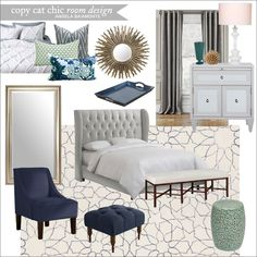 A luxe navy master bedroom for $3,943. Angela Baiamonte