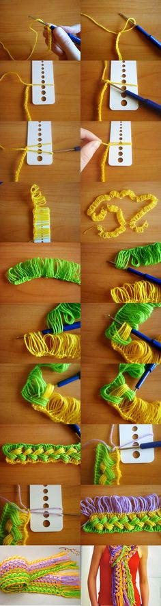 Knitting  your own scarf is so easy ! :)  Tutorial --> http://wonderfuldiy.com/wonderful-diy-hook-knit-scarf/