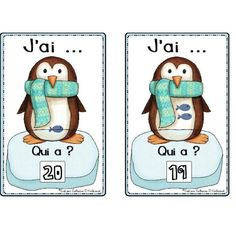 Animaux polaires: Jeu des nombres 1 à 20 Arctic Polar Bears, Arctic Animals, Numbers Preschool, Preschool Kindergarten, Playing With Numbers, Core French, French Classroom, 1st Grade Math, Classroom Setup
