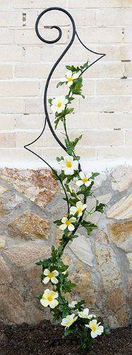 Support pour plantes grimpantes Riva Treillis en métal H-148cm L-30cm Support pour plantes grimpantes insérer dans le sol
