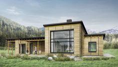 Plano de casa modular de 3 dormitorios con más de 100m2
