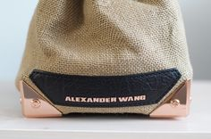 Alexander Wang - black leather, rose-gold
