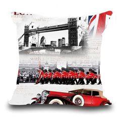 European National Flag Rice Flag Rank-and-file Soldiers Vintage Cotton Pillow Cushion Come Picture