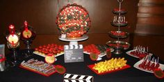 Hollywood themed candy bar by sucre atelier