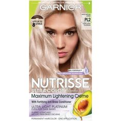 Photo of Garnier Nutrisse Ultra Color Nourishing Hair Color Creme with Triple Oils, Permanent Hair Dye for 100 Percent Gray Coverage, Mascarpone Creme 1 kit Ash Blonde Hair Dye, Platinum Blonde Hair Color, Brunette To Blonde, Blonde Color, Blonde Balayage, Loreal Hair Color Blonde, Dark Blonde, Box Hair Dye, Dyed Hair