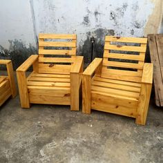 Awesome Pallet Chair Designs - Repurposed Pallet Furniture Set | 101 Pallets