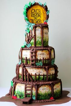 Into The Woods cake...I will never make this but I absolutely love it