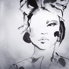 Fashion illustration - stylish fashion sketch // Anna Wand
