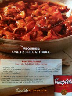 Beef Taco Skillet Dinner