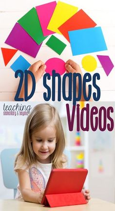 Online videos to teach young children about figures. This list is perfect for a kindergarten class or even younger children. Kindergarten Lessons, Math Lessons, Piano Lessons, Primary Maths, Primary Classroom, Kindergarten Classroom, 3d Figures, First Grade Math, Grade 3