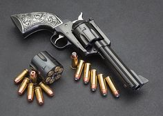Pewter Ruger Vaquero New Model Blackhawk Single Six Gun Grips Engraved Floral Scroll Design FITS PRE-2005 RUGERS ONLY : Sports & Outdoors