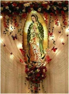 Blessed Mother Mary, Blessed Virgin Mary, Religious Pictures, Religious Icons, Assumption Church, Verge, Home Altar, Altar Decorations, Centerpieces