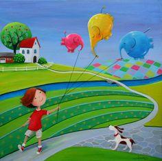 "Saatchi Art Artist: Iwona Lifsches; Acrylic 2014 Painting ""Little Happiness"""