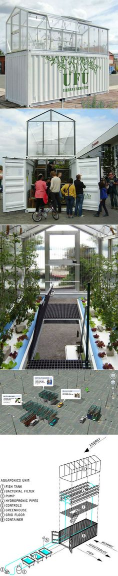 Shipping Container Turned into a Urban Farm Unit