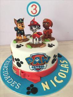 Paw Patrol Theme Party, Paw Patrol Party Decorations, Paw Patrol Birthday Cake, Toddler Birthday Cakes, Puppy Birthday Parties, Birthday Cupcakes, Construction Cookies, Torta Paw Patrol, Second Birthday Boys