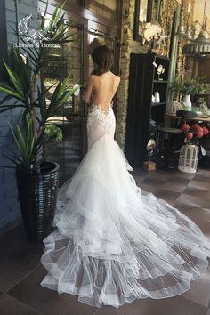 Hochzeit Spitzenkleid, einzigartiges Brautkleid, sexy Brautkleid, Hochzeitskleid, Hochzeit Kleid Spitze Das Kleid mit natürlichen Futter und
