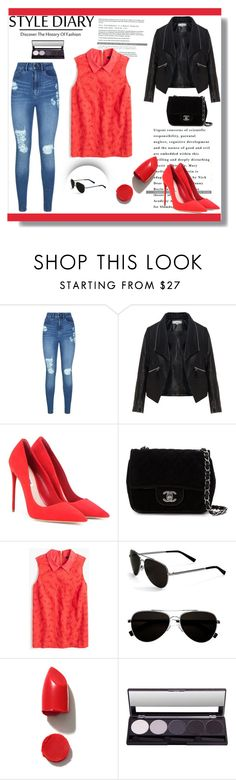 """:$"" by purplerabbit-d ❤ liked on Polyvore featuring Lipsy, Zizzi, Miu Miu, Chanel, J.Crew, Calvin Klein and NARS Cosmetics"