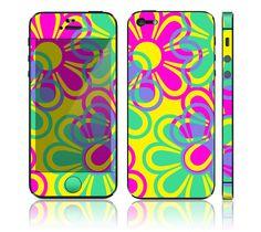 Apple iPhone 5 Decal Skin - Retro Flowers #phoneskin $11.99
