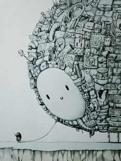 The Companion - A1 ink drawing on Behance