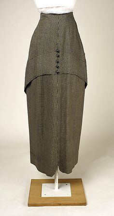 Silk and wool Walking Suit, 1912-13, The Met